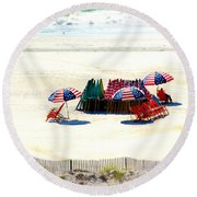 Ocean City Nj Stars And Stripes Round Beach Towel
