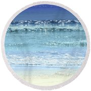 Ocean Colors Abstract Round Beach Towel by Elena Elisseeva