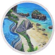 Ocean Dream Round Beach Towel