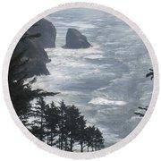 Round Beach Towel featuring the photograph Ocean Drop by Fiona Kennard