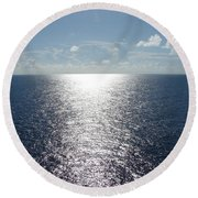 Ocean Horizon Round Beach Towel