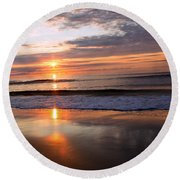 Ocean Isle Beach At Sunrise Round Beach Towel