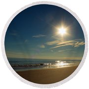 Ocean Isle Beach Sunshine Round Beach Towel