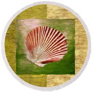 Ocean Life Round Beach Towel by Lourry Legarde