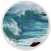 Ocean Majesty Round Beach Towel
