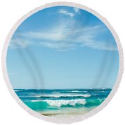 Round Beach Towel featuring the photograph Ocean Of Joy by Sharon Mau