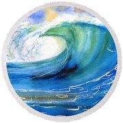 Ocean Spray Round Beach Towel by Carlin Blahnik