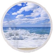 Ocean Surf Round Beach Towel by Elena Elisseeva