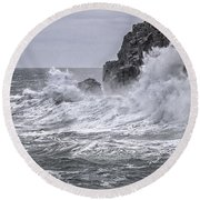 Ocean Surge At Gulliver's Round Beach Towel