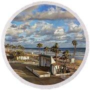 Oceanside Amphitheater Round Beach Towel
