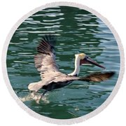 Round Beach Towel featuring the photograph Oceanside  by Laurie L