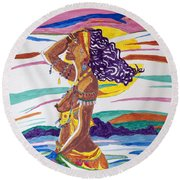 Ochun  Round Beach Towel