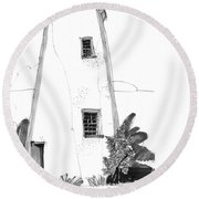 Ocracoke Light 1970s Round Beach Towel