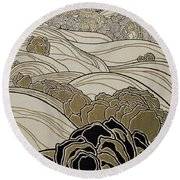October Round Beach Towel