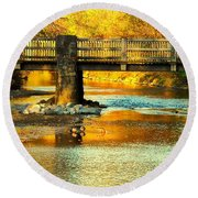 October At Robin Hood Dell Round Beach Towel