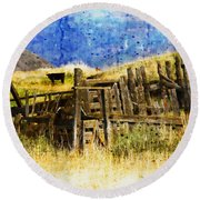 October Day Round Beach Towel by Kathy Bassett