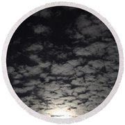 October Moon Round Beach Towel by Joel Loftus