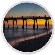 October Sunset Round Beach Towel