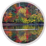Round Beach Towel featuring the photograph October's Colors by Dianne Cowen