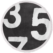 Odd Numbers Round Beach Towel