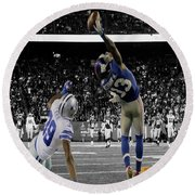 Odell Beckham Greatest Catch Ever Round Beach Towel by Brian Reaves