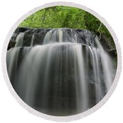 Odom Creek Waterfall Georgia Round Beach Towel by Charles Beeler