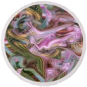 of Angels and Apparitions Round Beach Towel by rd Erickson