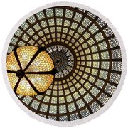 Of Lights And Lamps Round Beach Towel