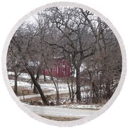 Round Beach Towel featuring the photograph Off The Beaten Path by Liane Wright