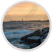 Off The Cape Round Beach Towel