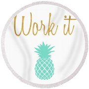 Office Pop II Round Beach Towel by South Social Studio
