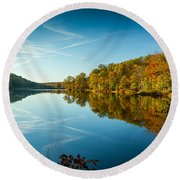 Ogle Lake Round Beach Towel