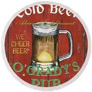 O'grady's Pub Round Beach Towel