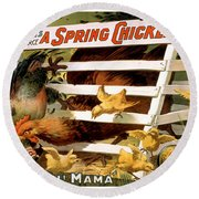 Oh Mama Round Beach Towel by Terry Reynoldson