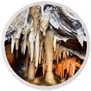 Ohio Caverns Round Beach Towel