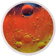 Oil And Water Round Beach Towel