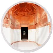 Oil Painting - Doorway In Humayun Tomb Round Beach Towel