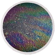 Oil Rainbow Round Beach Towel