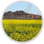 Oklahoma Gold Round Beach Towel