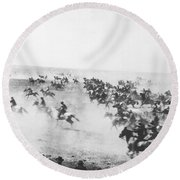 Oklahoma Land Rush Round Beach Towel