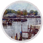 Olcott Round Beach Towel