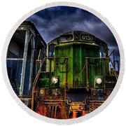 Old 6139 Locomotive Round Beach Towel by Thom Zehrfeld