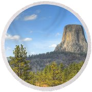 Old As The Hills Round Beach Towel
