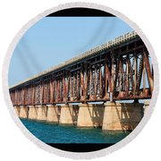 Old Bahia Honda Bridge 2 Round Beach Towel