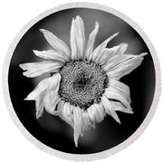 Old Beauty Round Beach Towel