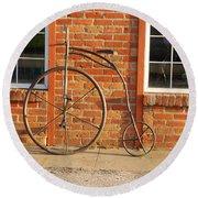 Old Bike Round Beach Towel by Mary Carol Story