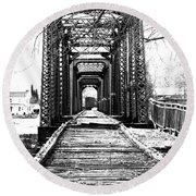 Old Bridge Round Beach Towel