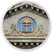 old Building arch Round Beach Towel