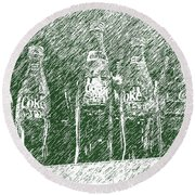 Round Beach Towel featuring the photograph Old Coke Bottles by Greg Reed