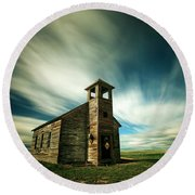 Old Cottonwood Church Round Beach Towel